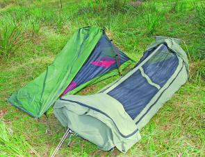 The Starlight Two tent plus the heavy duty Mitchell swag. These are handy variations on the common theme of a good night's sleep.
