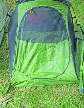There's ample ventilation within the Starlight Two tent thanks to a zippered mesh panel on the door.