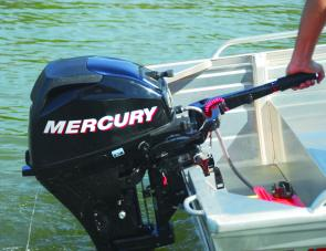 The Mercury four-stroke is also available with options such as power tilt, electric start and shifting handle.