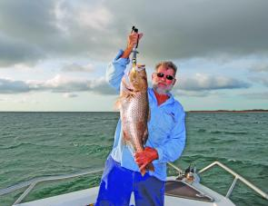 During the barra closed season in the Gulf, fingermark are a great alterative target.