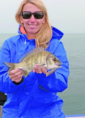 Kim and a Spitfire caught bream.