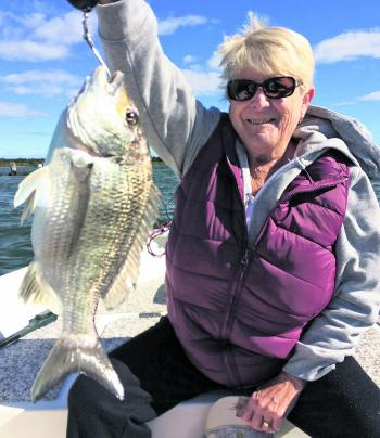 Derek Crosdale recently took his wife out for a bream session and was resoundingly defeated when Judith managed this fine 1.1kg bream.