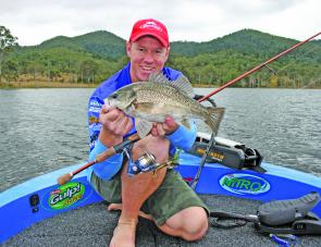 Schools of bass will provide anglers with plenty of fun this month.