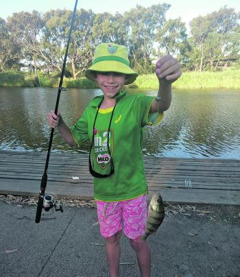 Max loves catching reddies in the Barwon.