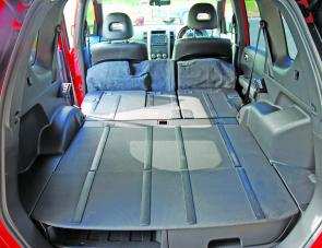 With rear seats down the X-Trail can boast a 2m long rear cargo hold.