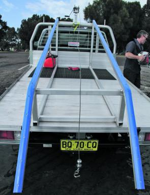 That Ute Pack makes light work of transporting, launching and retrieving the Micro Cat.