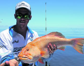 Sean with a deep water bar cheek coral trout. These tasty predators have been on the chew.