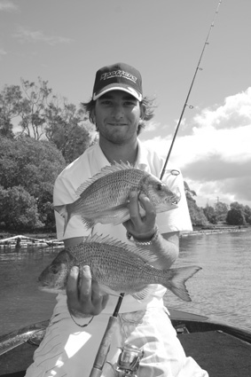 Kris Hickson was all smiles after enjoying a good session on the Hastings River.