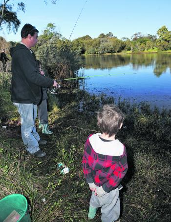 St Augustine's Waterhole at the Warn Ponds end of South Valley Road is scheduled for 500 trout these school holidays.