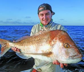 The snapper bite is red hot at the moment, especially on soft plastics.