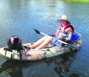 The best way to fish the Woolwash, or even investigate what's out around the timber, is from a kayak.