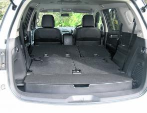 With rear seating folded down, there's 1800mm of load space in the MU-X.