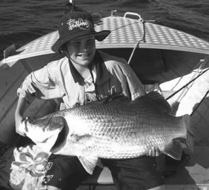 Luke's first barra – and what a beauty it was.