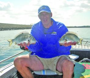 Allan Perry had not fished in Botany Bay for over 20 and couldn't believe how well the area fished for bream and trevally.
