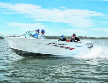 The 485 Bay Cruiser can carry the whole family.