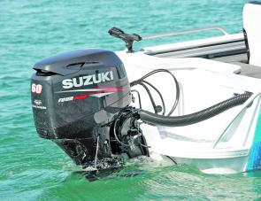 The 60hp Suzuki four-stroke makes easy work of powering the Blue Fin, with full plane at a mere 7.5 knots.