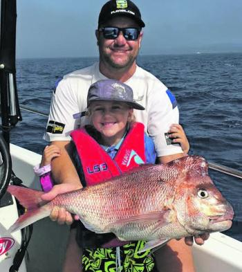 Nathan and Macey caught this cracking fish at Macey's favourite spot off Batemans Bay.