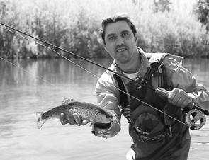 John Guljas captured this New Year Goulburn River rainbow on a dry fly.