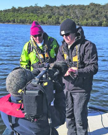 Filming in the winter months for Fishing Australia was great fun.