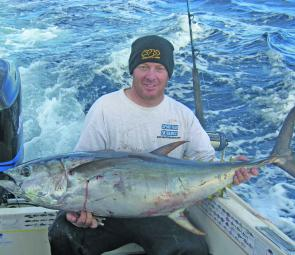 The author's back-breaker 40kg yellowfin on 10kg line took over an hour to beat.