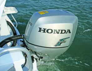 The big 150hp Honda four stroke provided more than enough poke for the Preda King. Sea Jay recommends a 115hp as the optimum power plant.