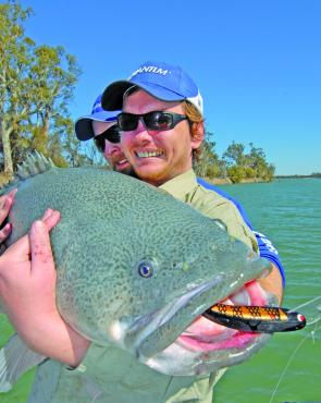 Dave Fregon with a monster cod taken near Mildura on a Koolabung lure.