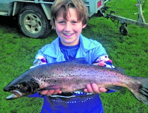 Local young gun Ben Rippon caught this beaut brown trout of around 4lb from the Aire River.