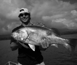 Gavin Caspani with a quality fingermark caught trolling in the Hinchinbrook Channel.
