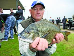 Graham Whibley with his Go-So Big Bream that pulled the scales down 1.315kg.