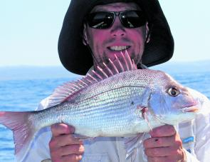 The deepwater reefs off Cape Otway are holding large schools of small but legal sized snapper.
