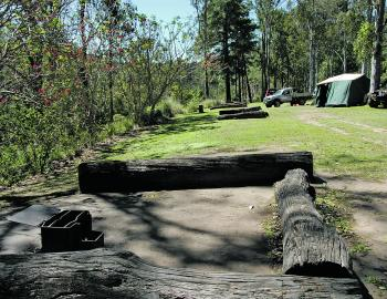 Fire places are always a popular attraction at the Borumba Dam camping grounds.
