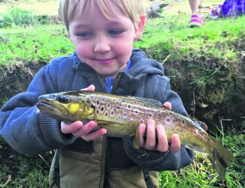 Jarvis Kent has been out catching trout with his dad in the Barham River at Apollo Bay.