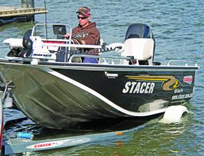 The Stacer 459 Barra Pro can easily be launched and retrieved solo or you can drive it on the trailer.
