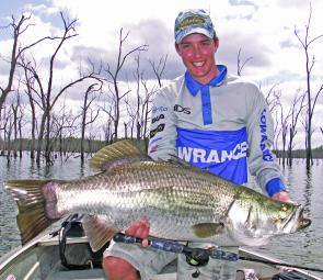 December is usually always a great time of year for impoundment barramundi with big fish like this the ultimate target.