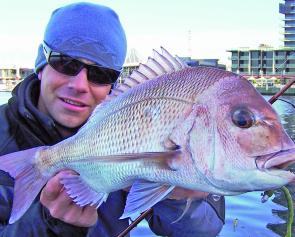 Soft plastics account for consistent captures of pinkie snapper from just undersize up to two kilograms.