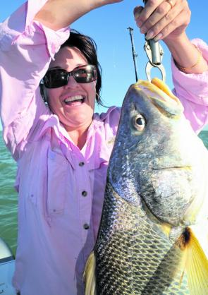 Studies in the NT have shown post-release survival rates for black jewfish pulled from 10m or more of water to be practically zero. It's much better to catch and keep one or two, then stop fishing for them.