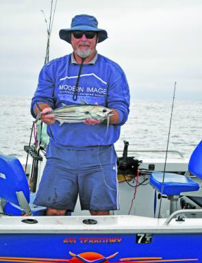 Striped tuna are a light-tackle option this month.