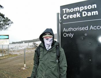 This can happen in May so be prepared. Thompsons Creek Dam can fish really well when it does.