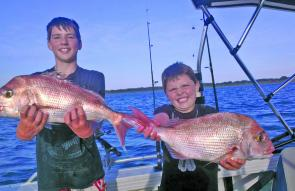 The boys are happy – snapper are still in firm focus for many anglers.