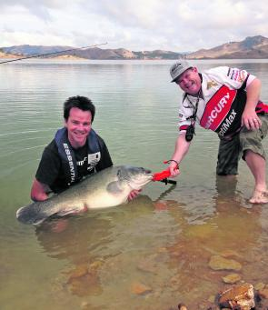 Everyone involved was truly stoked with this capture, which took over half an hour to land on a 10lb leader!