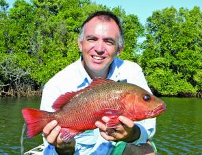The best thing about living in Queensland is that there are mangrove jack fisheries all along the coast.