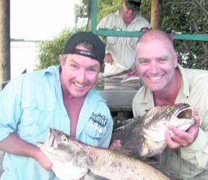 Wayne van den Broek and Richard Creighton were all smiles with this catch.