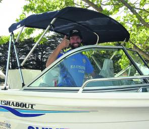 Justin Seabrook of Coburg won 1st Random Capture Prize and a brand new Quintrex 4.81m FISHABOUT.