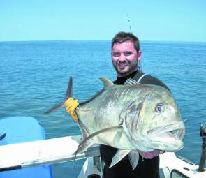 Large giant trevally will be holding around bait.