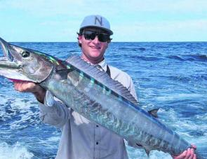 The last of the speedsters like this wahoo will be around now. They are usually at their largest as the water cools.