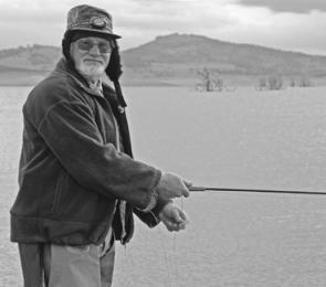 John Trengrove doing what he loves best, fishing in the high country.