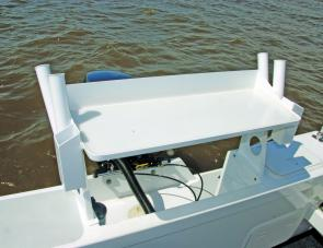 A large bait station complements this serious fishing craft.