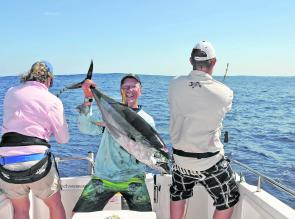 Like everywhere in NSW these days, yellowfin tuna can be extremely hit and miss, but where there's one, a whole school is usually close behind.