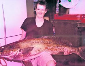 A 24kg mulloway from a 'secret' spot that Jack Maitland caught on a whole squid.