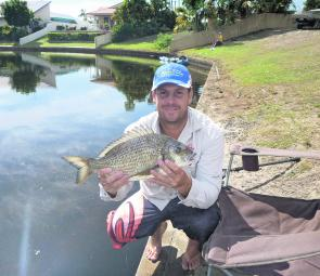 Trent Kiehne from Battery Hill won for his 47cm bream.
